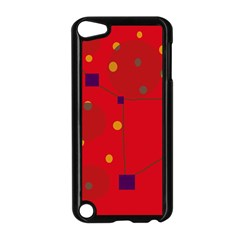 Red abstract sky Apple iPod Touch 5 Case (Black)