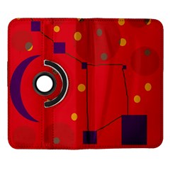 Red abstract sky Samsung Galaxy Note II Flip 360 Case