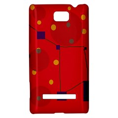 Red abstract sky HTC 8S Hardshell Case