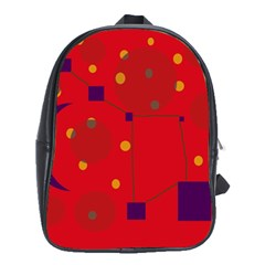 Red abstract sky School Bags (XL)