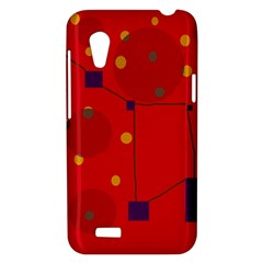 Red abstract sky HTC Desire VT (T328T) Hardshell Case