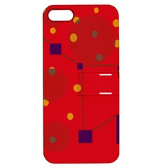 Red Abstract Sky Apple Iphone 5 Hardshell Case With Stand