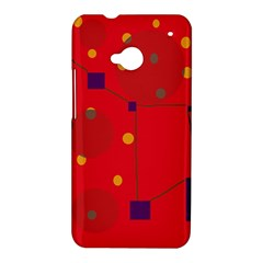 Red abstract sky HTC One M7 Hardshell Case