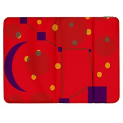 Red abstract sky Samsung Galaxy Tab 7  P1000 Flip Case