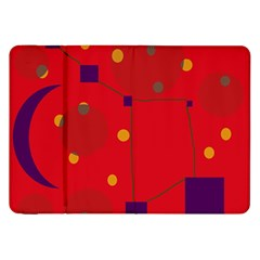 Red Abstract Sky Samsung Galaxy Tab 8 9  P7300 Flip Case