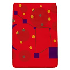 Red abstract sky Flap Covers (L)