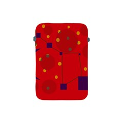 Red abstract sky Apple iPad Mini Protective Soft Cases