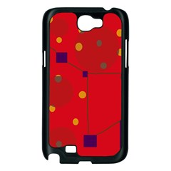Red abstract sky Samsung Galaxy Note 2 Case (Black)