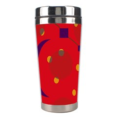 Red abstract sky Stainless Steel Travel Tumblers