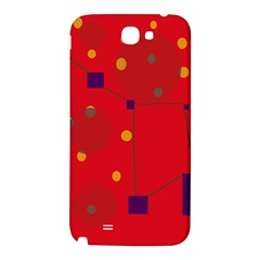 Red abstract sky Samsung Note 2 N7100 Hardshell Back Case