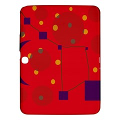 Red abstract sky Samsung Galaxy Tab 3 (10.1 ) P5200 Hardshell Case