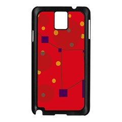 Red abstract sky Samsung Galaxy Note 3 N9005 Case (Black)