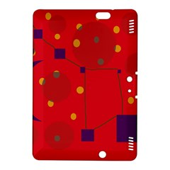 Red abstract sky Kindle Fire HDX 8.9  Hardshell Case