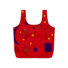 Red abstract sky Full Print Recycle Bags (S)