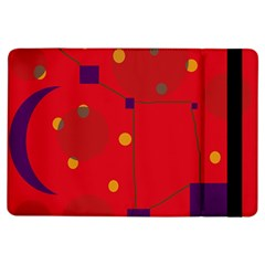 Red abstract sky iPad Air Flip