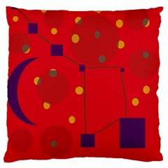 Red abstract sky Standard Flano Cushion Case (One Side)