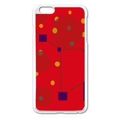 Red abstract sky Apple iPhone 6 Plus/6S Plus Enamel White Case