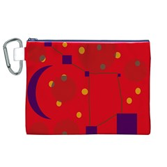 Red abstract sky Canvas Cosmetic Bag (XL)