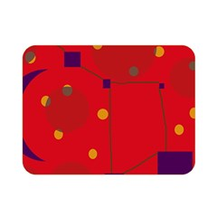 Red abstract sky Double Sided Flano Blanket (Mini)