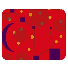 Red abstract sky Double Sided Flano Blanket (Medium)