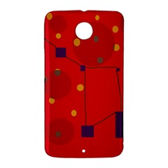 Red abstract sky Nexus 6 Case (White)