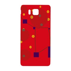 Red abstract sky Samsung Galaxy Alpha Hardshell Back Case