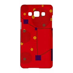 Red abstract sky Samsung Galaxy A5 Hardshell Case
