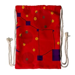 Red abstract sky Drawstring Bag (Large)