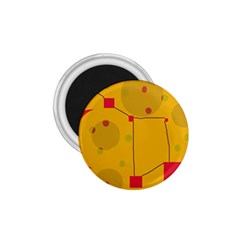 Yellow abstract sky 1.75  Magnets