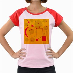 Yellow abstract sky Women s Cap Sleeve T-Shirt