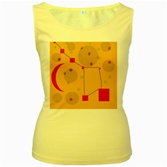 Yellow abstract sky Women s Yellow Tank Top