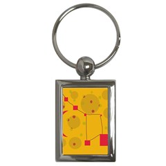 Yellow abstract sky Key Chains (Rectangle)