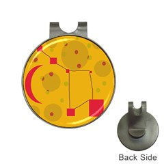 Yellow abstract sky Hat Clips with Golf Markers