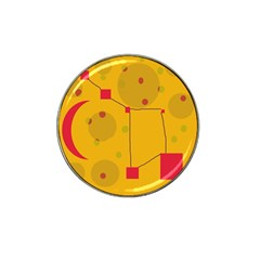Yellow abstract sky Hat Clip Ball Marker