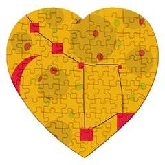 Yellow abstract sky Jigsaw Puzzle (Heart)