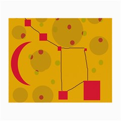 Yellow abstract sky Small Glasses Cloth