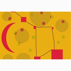 Yellow Abstract Sky Collage Prints