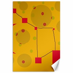 Yellow abstract sky Canvas 24  x 36