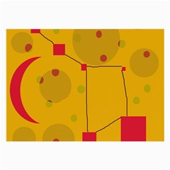Yellow abstract sky Large Glasses Cloth (2-Side)