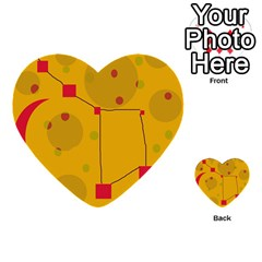 Yellow abstract sky Multi-purpose Cards (Heart)