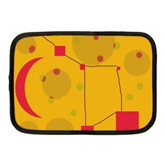 Yellow abstract sky Netbook Case (Medium)