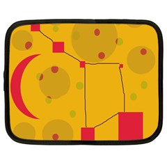 Yellow abstract sky Netbook Case (Large)