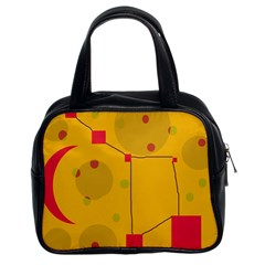 Yellow abstract sky Classic Handbags (2 Sides)