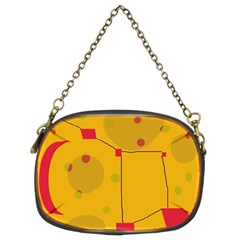 Yellow abstract sky Chain Purses (Two Sides)