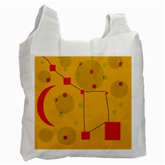 Yellow abstract sky Recycle Bag (One Side)