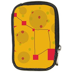 Yellow abstract sky Compact Camera Cases