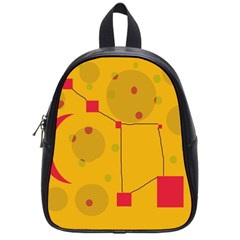 Yellow abstract sky School Bags (Small)