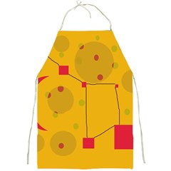 Yellow abstract sky Full Print Aprons