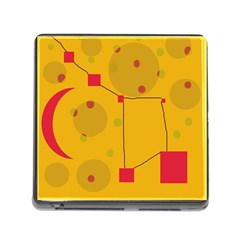 Yellow abstract sky Memory Card Reader (Square)