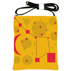 Yellow abstract sky Shoulder Sling Bags